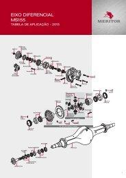 Eixo Diferencial MS155 - 2013 - Meritor