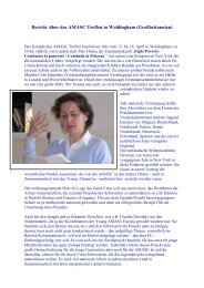 Bericht von Maria Schöner