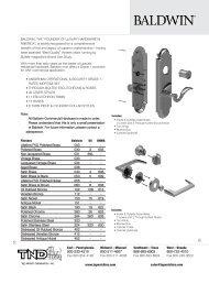 Baldwin Product Catalog Commercial - Top Notch Distributors, Inc.
