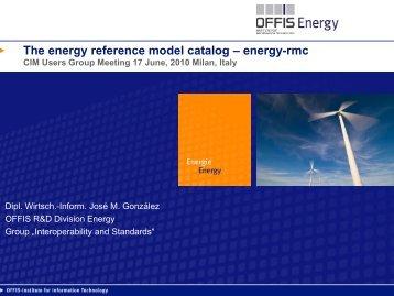 The energy reference model catalog – energy-rmc - CIMug