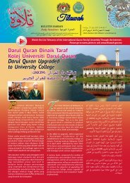 Darul Quran Upgraded to University College - Jabatan Kemajuan ...