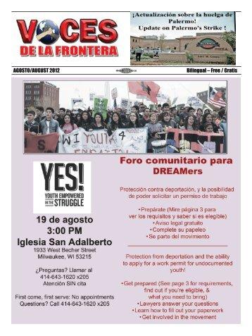 AGOSTO/AUGUST 2012 Bilingual – Free / Gratis - Voces De La ...