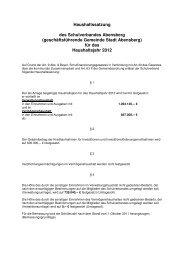 Haushaltssatzung Schulverband 2012 - Stadt Abensberg