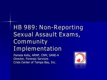 Implementing Non-Reporting Exams in Florida Communities