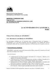 2.4 ACTIVIDADES EN CAJAMARCA, PERU - Condesan