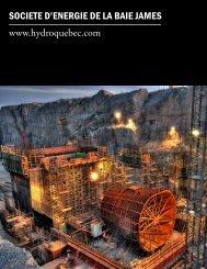 SOCIETE D'ENERGIE DE LA BAIE JAMES www.hydroquebec.com
