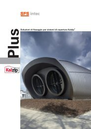 Soluzioni di fissaggio per sistemi di copertura Kalzip® - SFS intec