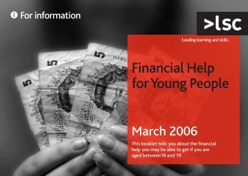 Financial help for young people - lsc.gov.uk - Learning and Skills ...