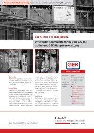 Ein Klima der Intelligenz Effiziente Raumlufttechnik von GA-tec ...