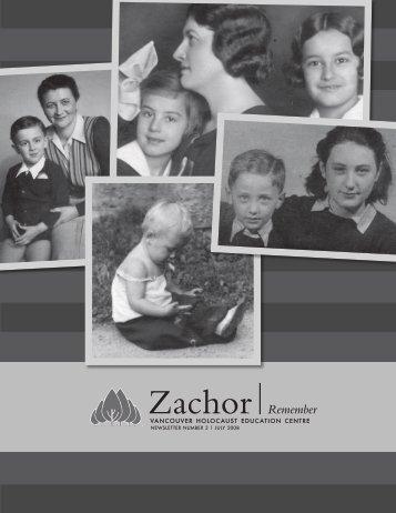 Zachor Remember - Vancouver Holocaust Education Centre