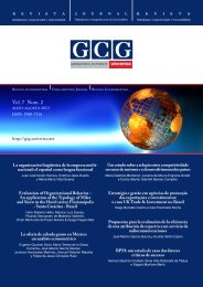 Vol. 7 Num. 2 - GCG: Revista de Globalización, Competitividad y ...