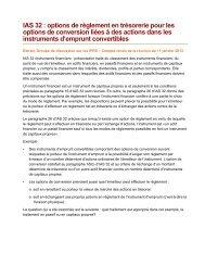 IAS 32 : options de règlement en trésorerie pour les options de ...
