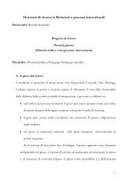 Progetto di ricerca dott. Domenico Razzini