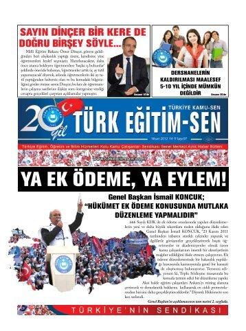 YA EK ÖDEME, YA EYLEM! - Türk Eğitim-Sen