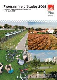 Programme d'études 2008