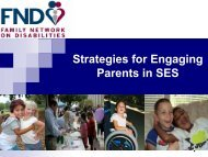 Strategies for Engaging Parents in SES - The Family Network on ...