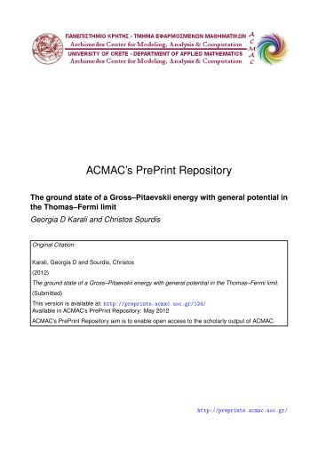 Download (607Kb) - ACMAC's PrePrint Repository