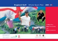 12pp- Final Sport Plan EGP (Page 2) - England Golf Partnership