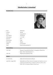 Tabellarischer Lebenslauf - Hannah Biedermann