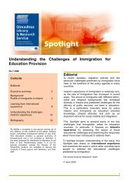 Understanding the Challenges of Immigration for Education Provision