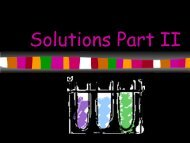 Solutions and Other Mixtures PowerPoint 2