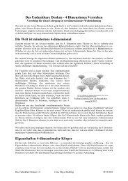 Das Undenkbare Denken - 4 Dimensionen Verstehen Die Welt ist ...