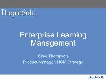 Enterprise Learning Management
