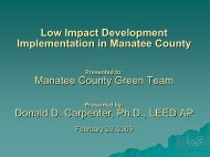 Presented By - Manatee County Extension Office - University of Florida
