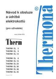 THERM EL 5, 8, 9, 14, 15, 23, 30, 38, 45 - Thermona