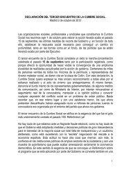 declaración del tercer encuentro de la cumbre social - ULPGC