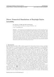 Direct Numerical Simulations of Rayleigh-Taylor instability