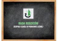Prezentacja - Rada Rodziców Zespołu Szkół w Podkowie Leśnej