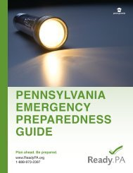 pennsylvania emergency preparedness guide - Pennsylvania's ...