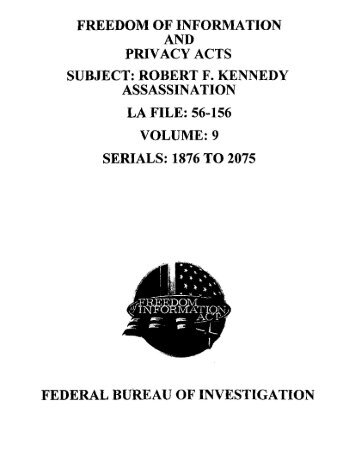 11RFK Files 1876-2025 - Finding Sources