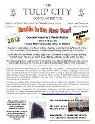 Jan - the Tulip City Gem & Mineral Club