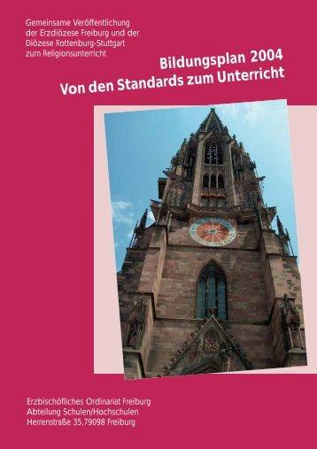 Standards und Religionsunterricht - Erzbischöfliches Ordinariat ...