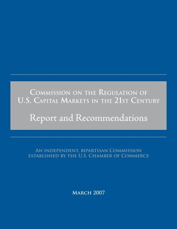 Report and Recommendations - US Chamber of Commerce