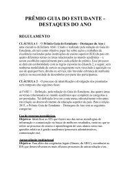 PRÊMIO DESTAQUES DO ANO GUIA DO ESTUDANTE - Santander