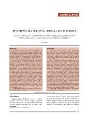 EPIDERMOLIZA BULOASĂ – DOUĂ CAZURI CLINICE