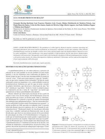 Assuntos Gerais - Quimica Nova - Sociedade Brasileira de Química