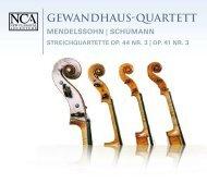 Gewandhaus-Quartett - nca - new classical adventure