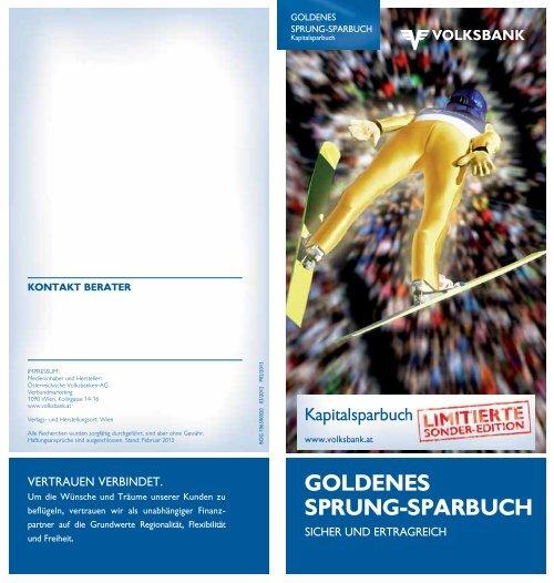 GOLDENES SPRUNG-SPARBUCH - Volksbank Wien AG
