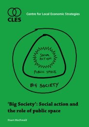 'Big Society': Social action and the role of public space - CLES
