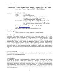 Summer 2012 – BUS 35200 Corporation Finance – Sections 81/85