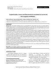 Vaginal azoles versus oral fluconazole in treatment of ... - Journals