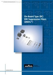 On-Board Type (DC) EMI Suppression Filters (