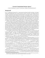 Concrete Compositional Sentence Spaces - clic-cimec
