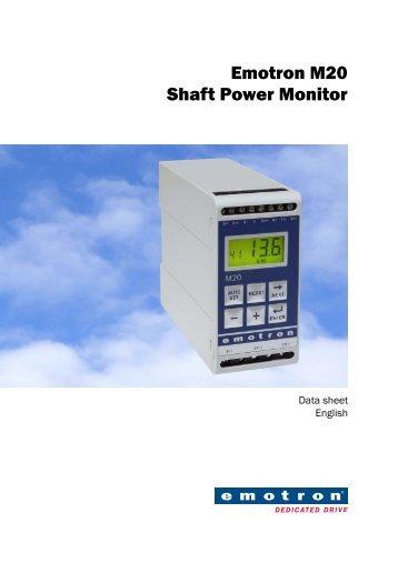Emotron M20 Shaft Power Monitor