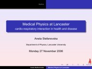 Medical Physics at Lancaster: cardio-respiratory interaction in health ...