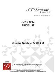 JUNE 2012 PRICE LIST Exclusive Distributor for ... - Stone Marketing